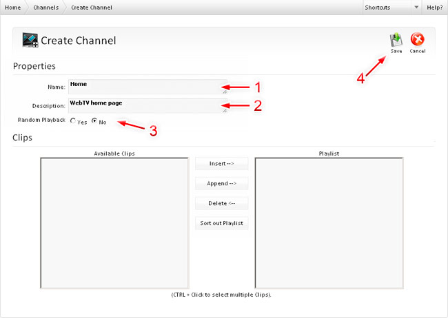 how to create a tv channel